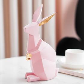 北欧现代简约几何兔子摆件创意客厅电视柜办公桌软装饰品摆设