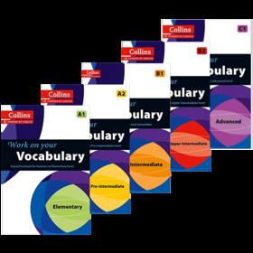 柯林斯攻破你的词汇5册套装 英文原版书 Collins Work on Your Vocabulary A1 A2 B1 B2 C1英语考试辅导书籍进口教材 英文版原版