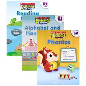 学乐学习列车练习册 3册 英文原版儿童读物 美国幼儿英语教材 字母与书写+自然拼读+阅读能力 Scholastic Learning Express K2
