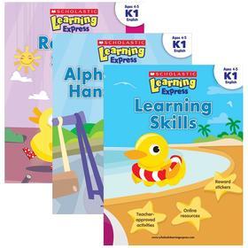 英文原版书 学习能力+字母+阅读能力 英文版正版进口美国幼儿英语教材 Scholastic Learning Express K1 学乐学习列车练习册3册