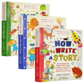 How To 英语学习3本套装 英文原版 write a story grammar spelling 如何写故事 语法 单词拼写7-9岁 Simon Cheshire 英文版进口书