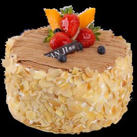杏仁派对-法式栗茸生日蛋糕