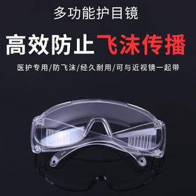 【多功能护目镜】有效防止飞沫传播 防迸溅、冲击、划痕,高清晰度 经久耐用 时尚美观!