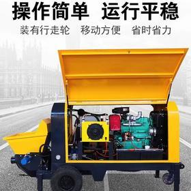 混凝土输送泵二次构造柱泵液压细石砂浆混凝土大颗粒输送泵上料机