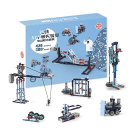 致砖小牛顿实验室!拼装积木电动玩具,300多种搭建玩法!培养STEAM素养,3D搭建图纸,欧盟环保级!