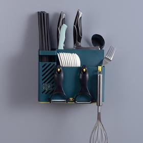 筷子筒壁挂式筷笼子沥水置物架托家用筷笼筷筒厨房餐具收纳盒