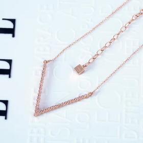 ELLE项链女纯银饰品锁骨链网红个性气质送女友礼物3006200