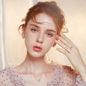 C&C莫文蔚同款玫瑰花园项链戒指耳钉三件套简约气质首饰