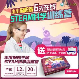 玩创Lab 硅谷STEAM科学实验直播课「小小探险家」探险主题博士课(适用5-12岁)12课时
