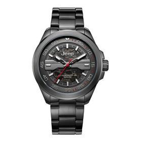 吉普(JEEP)手表 大切诺基系列 机械表男 镂空全自动 皮带男表 男士腕表