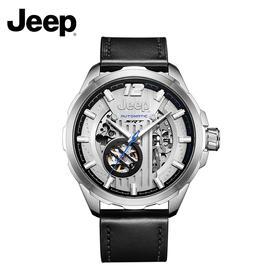 吉普(JEEP)手表 大切诺基系列 机械表男表 镂空全自动 皮带防水 男士腕表