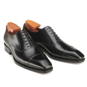 真皮手工商务雕花小牛皮皮鞋