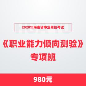 2020年海南省事业单位考试《职业能力倾向测验》专项班