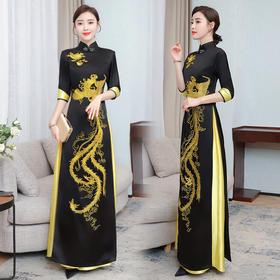 GN-NE2078新款奥黛国风越南改良高端旗袍TZF