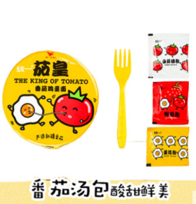 【安全配送】【安全配送】统一茄皇番茄鸡蛋面1桶