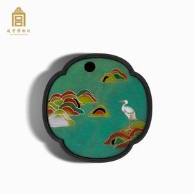 故宫博物院 芙蓉鹭鸶铜茶盘