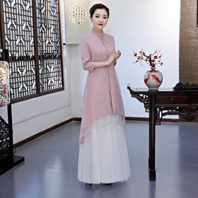 预售【风韵旗袍】中式民族风女装2020茶服开衫外套唐装旗袍上衣L1