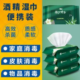 【现货】超值3包装!thelift 酒精消毒湿巾(75%酒精)便携装
