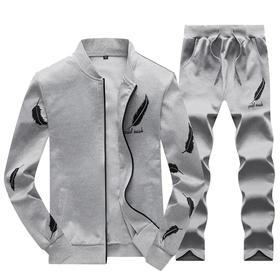 【寒冰紫雨】可发货  2020男士春装2件套装 薄款开衫卫衣+青年男式卫裤男生两件套装     AAA7838