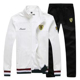 【寒冰紫雨】可发货 2020男士春装2件套装 薄款开衫卫衣+卫裤男生两件套装     AAA7837