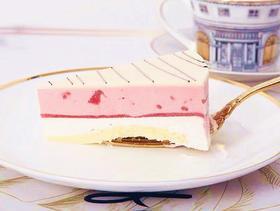 (限量10个/不单独配送)草莓酸奶双拼慕斯/芒果抹茶双拼慕斯切件1分钱秒杀1个