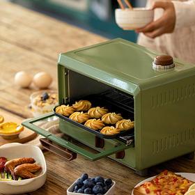 现货!Pinlo复古设计迷你蒸汽烤箱 小体积,性能优越, 800W功率,9L容量