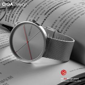CIGA创新 X系列 双针ⅡDNA男女石英手表 突破常规的非惯性设计