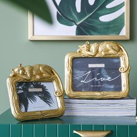 米子家居 北欧树脂创意动物相框摆台6寸7寸卧室客厅轻奢照片框