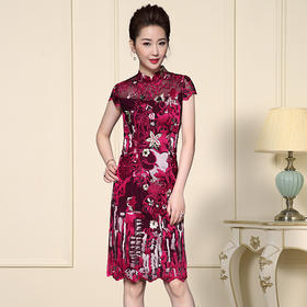 TZF-J-XL8030新款修身显瘦中式改良款旗袍裙TZF
