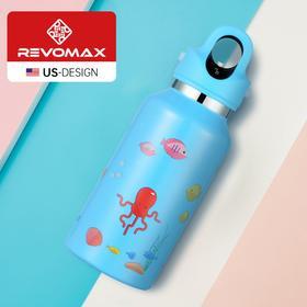 【预售7月下旬发货】【让宝宝爱上喝水的保温杯】Revomax单手秒开大童保温杯 便携运动户外