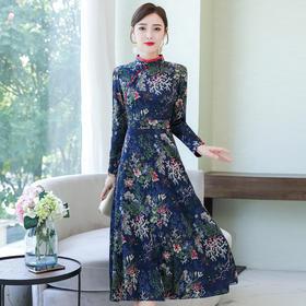 AHM-as8226新款气质优雅中国风改良旗袍连衣裙TZF