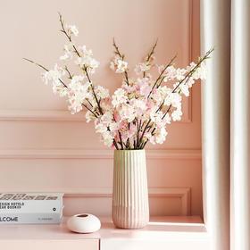 仿真樱花单支假花绢花摆设客厅摆件电视柜装饰品陶瓷花瓶花艺套装