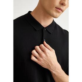 墨麦客男装2020夏季新款纯色翻领短袖POLO衫男针织桑蚕丝t恤7720