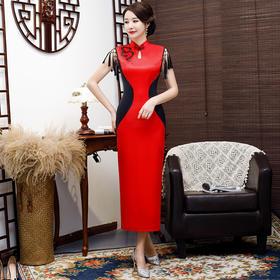 FMS073时尚气质优雅中国风古典旗袍TZF