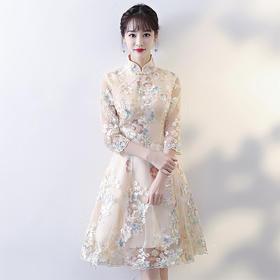 SSS-2630新款时尚小香风改良旗袍连衣裙TZF