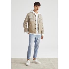 墨麦客男装2020春夏新款简约时尚夹克外套男翻领运动工装上衣8321
