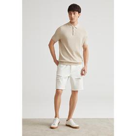 墨麦客男装2020夏季新款翻领短袖针织T恤男士polo打底体恤衫7718