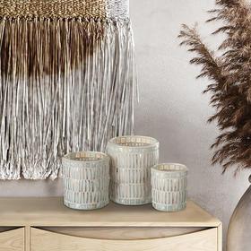欧洲进口J-line玻璃轻奢客厅摆件设计师样板间电视柜餐桌浪漫烛台