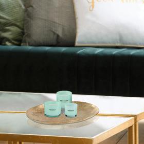 欧洲进口J-LINE轻奢圆形家用餐厅客厅托盘杯子水果甜品餐具装饰