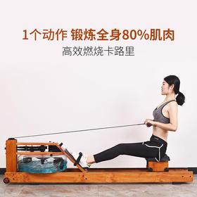 【锻炼80%肌肉】智能水阻折叠划船机