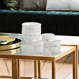 欧洲进口J-LINE瓷器饭碗创意装饰碗摆件彩绘碗收纳碗手绘陶瓷供碗