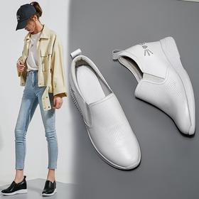 OLD-M802新款时尚百搭真皮厚底内增高休闲鞋TZF