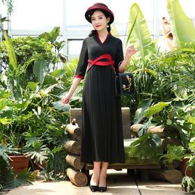 DLQ-L6452中国风气质典雅显瘦礼服连衣裙TZF
