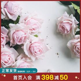 手感保湿玫瑰花仿真花假花客厅摆设室内装饰花干花花束花艺摆件