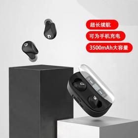 兰士顿T13PLUS真无线蓝牙耳机 蓝牙5.0 可为手机充电 指尖触控 智能LED屏显 IPX6级防水