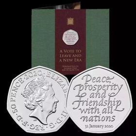 【全款预定】英国脱欧纪念币(2枚包邮)