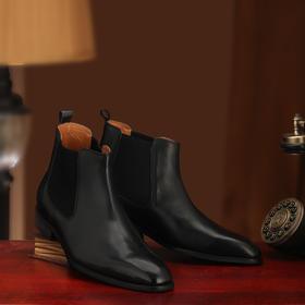 高级内缝工艺绅士级切尔西靴