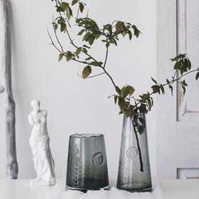 轻奢透明玻璃花瓶插花干花水培客厅餐桌现代简约家居装饰品摆件