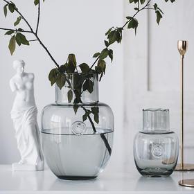 简约现代透明玻璃花瓶插花水培轻奢客厅家居样板房装饰品摆件