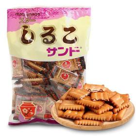 日本松永红豆饼干|香脆饼干包裹浓郁红豆馅,淡淡的盐味和红豆的甘甜。